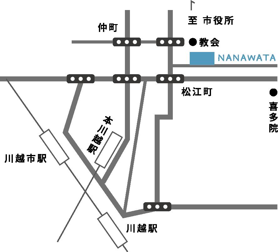 NANAWATA への地図